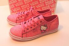 Women's Size 5.5 Azalea Pink Hello Kitty Vans Shoes Ferris Lo Pro Zebra Stripes