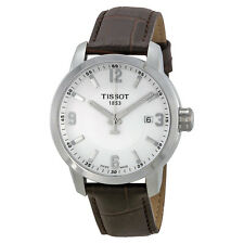 Tissot PRC 200 Silver Dial Brown Leather Mens Watch T0554101601701