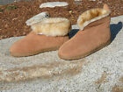 New Mens Australian Sheepskin Slippers Suede Wool sizes 8 9 10 11 12 13 14