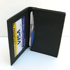 Black Men Genuine Leather Window ID/Credit/business Card Small Slim Wallet ID