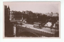 Trams Union Bridge And Terrace Gardens Aberdeen 3 Aug 1918 Real Photograph