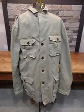 Banana Republic Jacket Coat Khaki 100% Cotton Canvas Military Men's Size Large