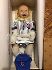 "ASHTON DRAKE/BONNIE CHYLE  CLOTH & VINYL ""MIGHTY BIG CUBS  PLAYER"" WITH COA"