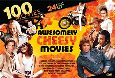 100 AWESOMELY CHEESY MOVIES New Sealed 24 DVD Set 1970s + 1980s