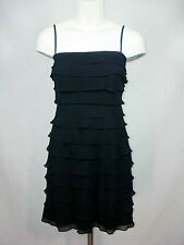Tadashi Black Tiered Evening Gown Dress Formal Cocktail Womens 6 6P