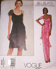 Ms Vogue 2620 Bill Blass Pattern UNCUT Flounce Straight Cocktail Dress 14-16-18