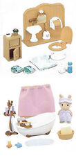 Two Furniture Sylvanian Families Sets - Bathroom Theme - Bath and Bathroom Sets