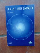 POLAR RESEARCH VOL22 No2 2003 Norwegian Norsk Pol Institut Articles ACIA Science