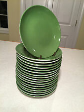 "Huge Lot of 18 CRATE&BARREL Green Porcelain 6.5"" APPETIZER BREAD DESSERT PLATES"