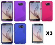 LOT 3 S-LINE TPU CASE WITH SCREEN PROTECTOR FOR VERIZON SAMSUNG GALAXY S6