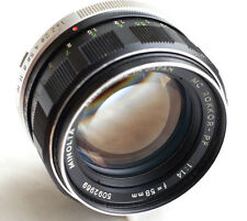 "Minolta MC ROKKOR-PF 58mm f1.4 Lens World Ship  JAPAN  ""READ"""