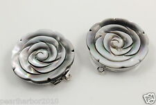 NEW Sea Shell Rose Flower & Brass Box Clasp For Jewellery Making Single Hole