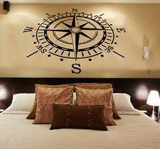 Wall Decals Rose Compass Vinyl Sticker Nautical Decal Living Room Decor KG784