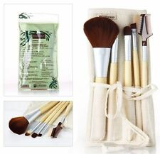 EcoTools Bamboo Makeup Brush Set 6pcs Blush Eyeshadow Make Up Brushes 5 + 1 Bag
