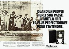 PUBLICITE ADVERTISING 027  1980   Technics (2p)  hi-fi  enceintes SB10