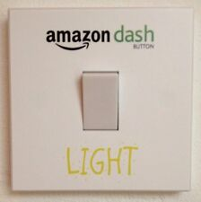 Amazon Dash Button Light Switch Sticker Wall Art Removable Decal Parody Joke