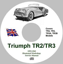 Triumph TR2 / TR3 / TR3A Workshop Service Repair Manual – 1953 - 1962 Models