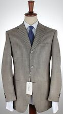NWT VERSACE COLLECTION wool SUIT Summer dove-grey pinstripe eu 46 us 36