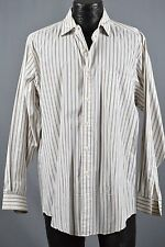 Brooks Brothers men's top size 16-5 white green Broadcloth red label