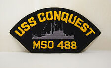 USS Conquest MSO 488 bordered with ship design patch patches USN US Navy NEW