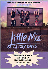 Little Mix Concert Glory Days Tickets Seats Present Birthday Card A5