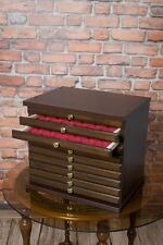 COIN TRAY COLLECTION CABINET FOR 10 TRAYS - Made of furniture board