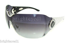 Authentic CHOPARD 23KT White Gold Plated Shield Sunglasses SCH 883S - 579 *NEW*