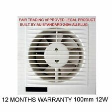 APPROVED WINDOW WALL WHISPER VENTILATION EXHAUST FAN EXTERNAL SHUTTER GLASS CLIP