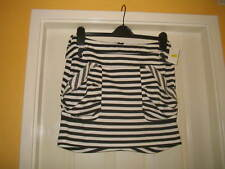 LADIES (NEW) SHORT SKIRT BLACK/WHITE STRIPE SIZE 10 F&F