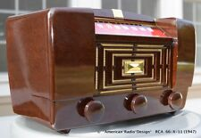 STUNNING RCA 66-X-11 CLEAN & WORKING TUBE RADIO - See/hear video free ship USA