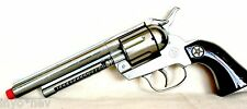 Silver European Made Cap Gun Pistol Made in Spain BRAND NEW 10007