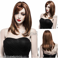 Synthetic Hair Wig for Women Brown Straight Women Wigs peruca накладные волосы