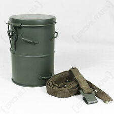 WW1 German Army GAS MASK CANISTER and STRAP Metal Tin M1916 Case Can Repro