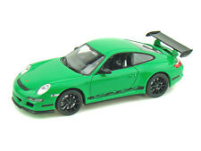 WELLY 1:32 DISPLAY PORSCHE 911 (997) GT3 RS Diecast Car Green Color