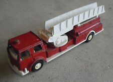 "Vintage 1970 Plastic Diecast Tootsietoy Fire Ladder Truck 7"" Long"
