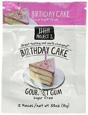 12 Packs Project 7 BIRTHDAY CAKE Gourmet Gum - Sugar Free 05/12/18 Free Shipping