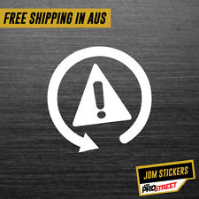 WARNING SYMBOL JDM CAR STICKER DECAL Drift Turbo Euro Fast Vinyl #0472