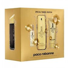 Paco Rabanne 1 Million 3.4 oz EDT Cologne Spray + Shower Gel + 15 ml Travel Set