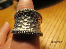 EFFY BH .925 STERLING SILVER PAVE DIAMOND RING - SIZE 9 1/2 WOMEN'S
