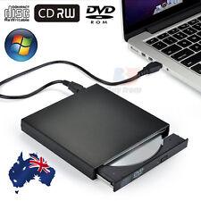 Slimline USB 2.0 External CD RW DVD ROM Portable Drive for Laptops Desktops AU