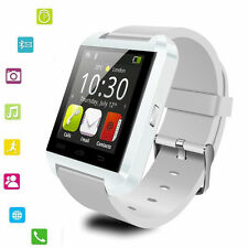 White Bluetooth Smart Wrist Watch Smartphone For Mobiles IOS Android and iPhone