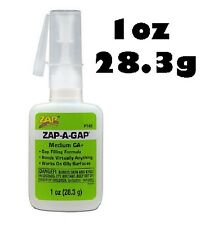 ZAP-A-GAP Cyano Medium CA+  Viscosity Super Glue 1oz (28.3g) PT02 (Green)