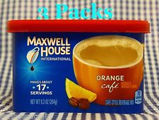 3 Maxwell House International Cafe ORANGE Coffee Creamer Drink mix 9.3 oz