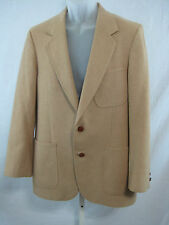 Vintage 80s Bill Blass Sports Coat Size 38 R Camel Hair Classic