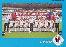 N°010 EQUIPE TEAM LYON LYONNAIS VIGNETTE PANINI FOOTBALL 96 STICKER 1996