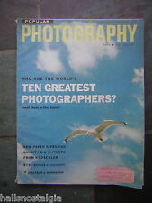 May, 1958 Popular Photography - Who Are The World's Ten Greatest Photographers?