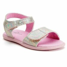 New Jumping Beans Toddler Baby Little Girls Sandals Shoes Size 8 Pink Velcro