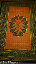 HIPPY BOHO TIE DYE RED ORANGE BANDHANI THROW WALL HANGING BED COVER 1910D