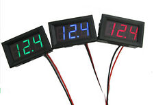 Red Mini DC 2.5-30V LED Panel 3-Digital Display Two Wires Voltage Voltmeter AOUW