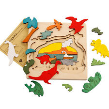 Animal Jigsaw Puzzle Toy Early Educational Montessori  Wooden Children Toy  QW